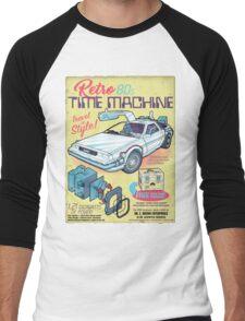 Retro Time Machine Men's Baseball ¾ T-Shirt
