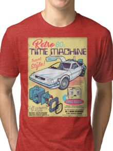 Retro Time Machine Tri-blend T-Shirt