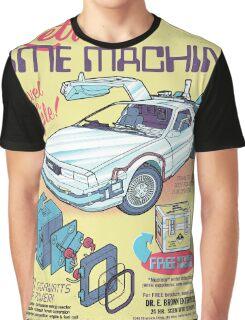 Retro Time Machine Graphic T-Shirt