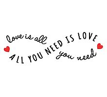 all you need is love, love is all you need Photographic Print