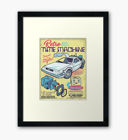 Retro Time Machine Framed Print