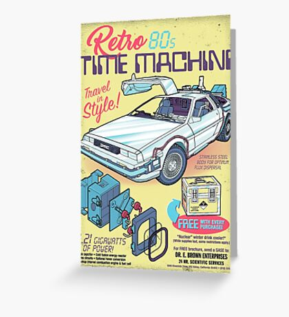 Retro Time Machine Greeting Card