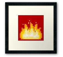 Pixel Flames Framed Print