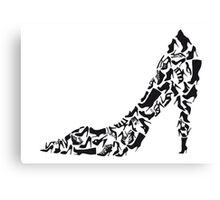 Stiletto with different shoe silhouettes Canvas Print