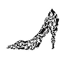 Stiletto with different shoe silhouettes Photographic Print