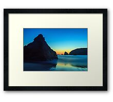 The Rocks At Brookings Framed Print