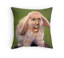 Nicolas Cage/Rabbit Throw Pillow