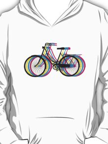 Colorful old bicycle silhouette T-Shirt