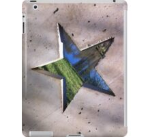 pentagram star window to the concrete garden  iPad Case/Skin