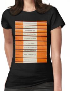 Book Spine Graphic Shirt Womens Fitted T-Shirt
