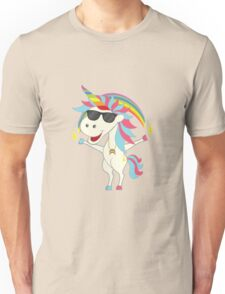 Crazy Unicorn - Cool Rainbow Unisex T-Shirt