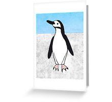 lone penguin Greeting Card