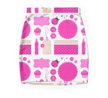 Pink scrabook elements : Pink school elements Mini Skirt