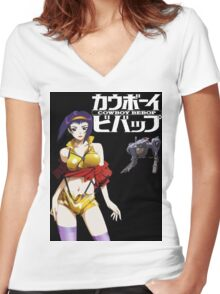 Faye x Valentine Women's Fitted V-Neck T-Shirt