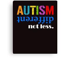 Autism different not less white Canvas Print