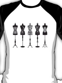 Vintage fashion mannequins with pattern T-Shirt