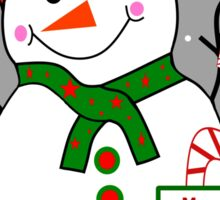 Merry Christmas Snowman Sticker