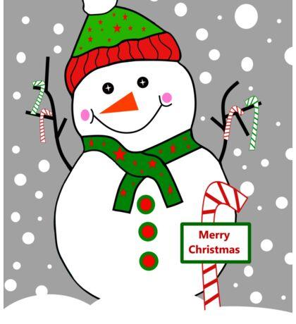 Merry Christmas Snowman Sticker