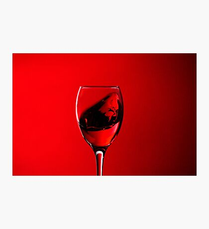 RED WINE FACE  Photographic Print