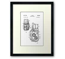 Rolleiflex Twin Lens Film Camera Vintage Patent Drawing  Framed Print