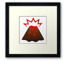 Stylish Island volcano. Designers LOVE RED Edition Framed Print