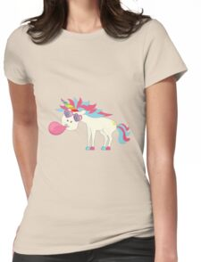 Crazy Unicorn - Blowing Bubbles Womens Fitted T-Shirt