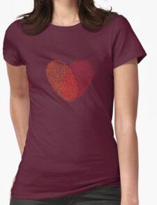 red fingerprint heart T-Shirt