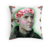 Solas - Flower Crown Throw Pillow