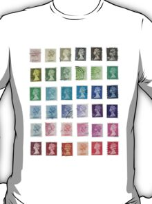 Color Queens Postage Stamps T-Shirt