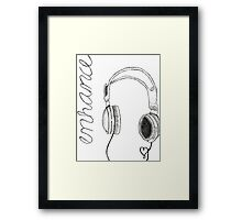 enhance headphones Framed Print