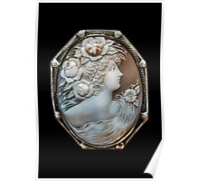 1880 Antique Shell Cameo Poster