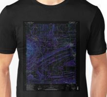 USGS TOPO Map Arkansas AR Huntington 258799 1987 24000 Inverted Unisex T-Shirt