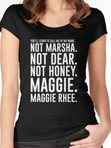 Maggie.MaggieRhee Women's Fitted Scoop T-Shirt