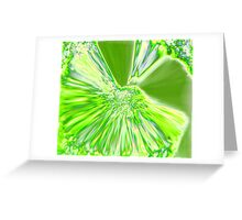 LIME EXPLOSION Greeting Card