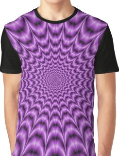 Explosive Web in Purple Graphic T-Shirt