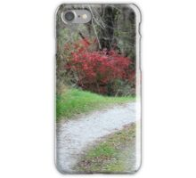 Lane with fire bush iPhone Case/Skin
