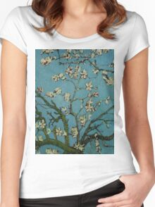 Van Gogh- Almond Blossoms Women's Fitted Scoop T-Shirt