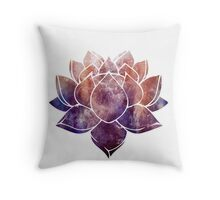 Buddhist Lotus Flower Throw Pillow