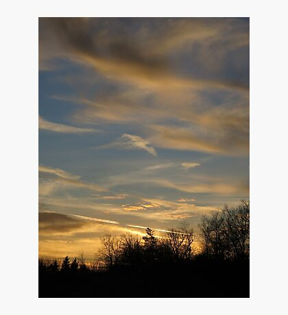 yellow clouds in the sunset  Photographic Print