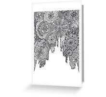 Classic Castle Zentangle Greeting Card