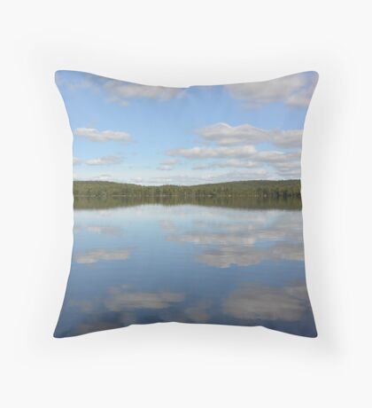 lake mirror of clouds  Throw Pillow