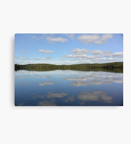 lake mirror of clouds  Canvas Print