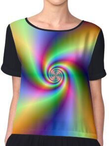 Psychedelic Four Winds Spiral Chiffon Top
