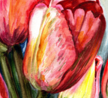 Tulips Pink Sticker