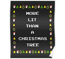Lit Christmas Poster