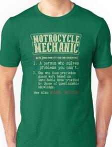 Motorcycle Mechanic Dictionary Unisex T-Shirt