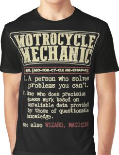 Motorcycle Mechanic Dictionary Graphic T-Shirt