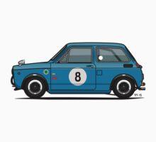 Honda N600 Blue Kei Race Car Kids Tee