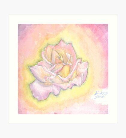Pastel Colored Rose Art Print
