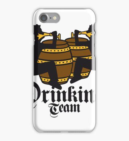drinking team freunde team besaufen bierfass hahn oktoberfest bier saufen trinken alkohol fass bayern party feiern text shirt cool design  iPhone Case/Skin